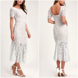 White Lace Midi Dress - NWT